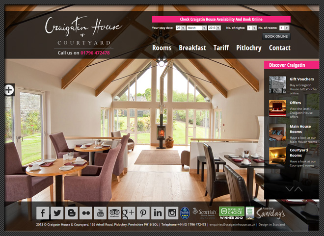 NEW AND IMPROVED CRAIGATIN HOUSE WEBSITE
